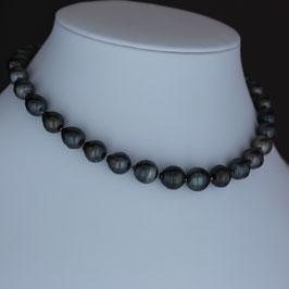 Halskette aus rhodiniertem 925-Sterlingsilber und Tahitiperle