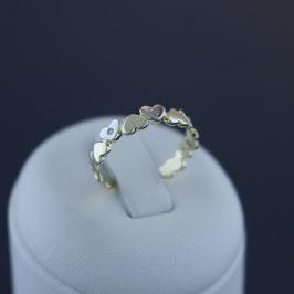 """Ring """"Herz"""" aus 333-Gelbgold mit teilweiser Weißvergoldung und Zirkonia"""