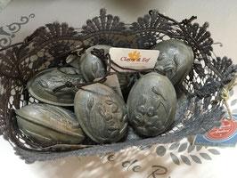 Graue Eier mit Hase Clayre & Eef