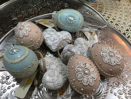 Eier mit Spitze Clayre & Eef