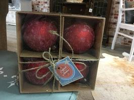 Rote matte Weihnachtskugeln von Clayre & Eef