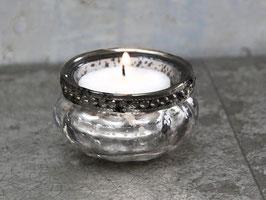 Chic Antique Teelichthalter m.Perlenkante klein