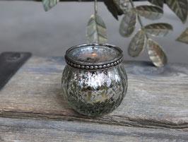 Chic Antique Teelichthalter m. Perlenkante