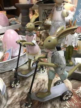 Clayre & Eef Kaninchen mit Roller