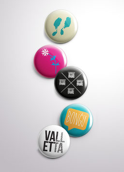 Set of 5 Pins (Various Designs)