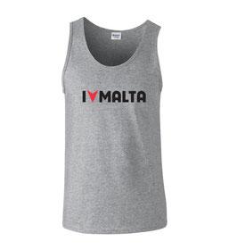 Men's I Love Malta Tank - Grey