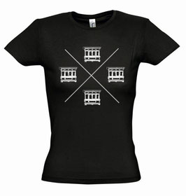 Women's Balconies Tshirt - Black/White