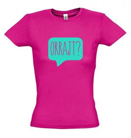 Women's Orrajt? T-shirt - Fucsia/Mint