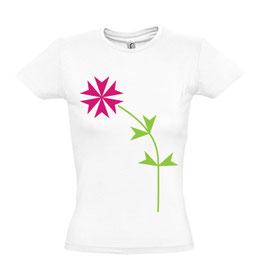Women's Maltese Flower Tshirt - White