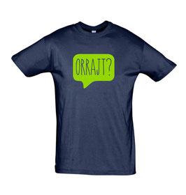 Men's Orrajt? Tshirt - Navy/Lime