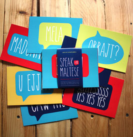 Speak Maltese Postcard Set