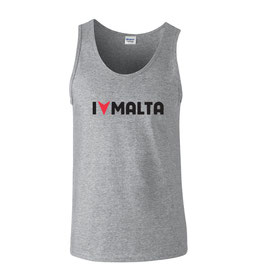 Men's I Love Malta Tank - Grey