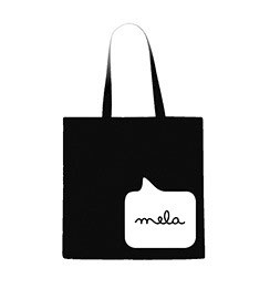 Mela Tote Back - Black/White