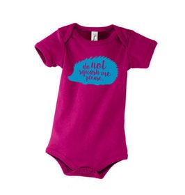 Baby Squash Bodysuit - Fuchsia/Blue