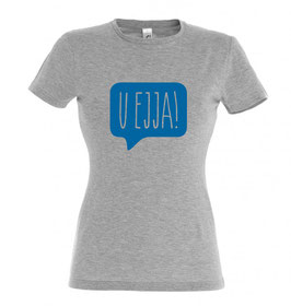 Women's U Ejja T-shirt - Grey Marl/Blue