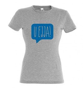 Women's U Ejja T-shirt - Grey Marl/Blue