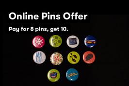 Set of 10 Pins (Various Designs)