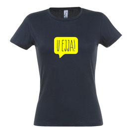 Women's U Ejja T-shirt - Dark Grey/Yellow