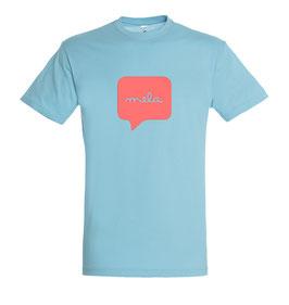 Men's Mela Tshirt - Atoll Blue/Coral