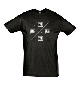 Men's Maltese Balconies Tshirt - Black/White