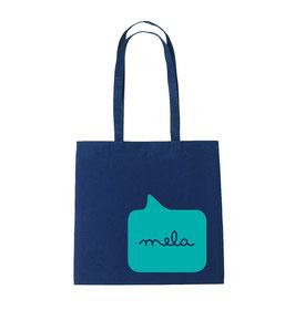Mela Tote Bag - Navy/Turq
