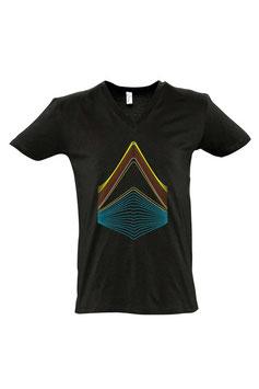 Men's Luzzu V-neck T-shirt - Black