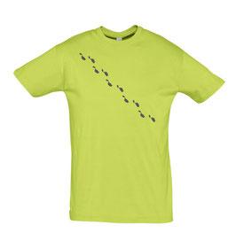 Men's Steps Tshirt - Apple/Grey