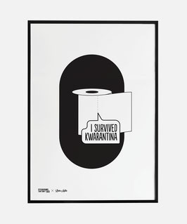 I Survived Kwarantina Screenprinted Poster A3