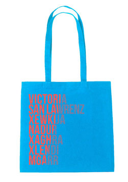 Gozo Cities Tote Bag - Aqua/Coral