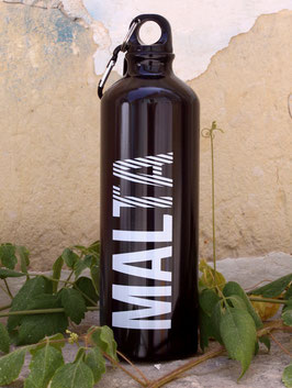 Malta Aluminum Sports Bottle - Black/White