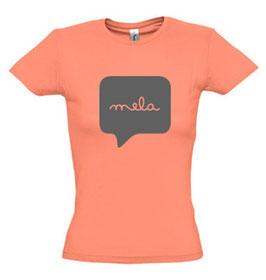 Women's Mela Tshirt - Coral/Grey