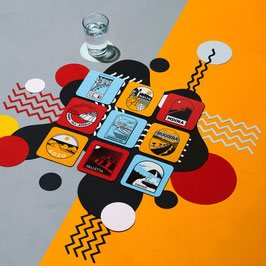 Maltese Icons Set of 6 Coasters