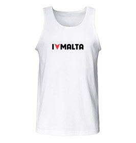 Women's I Love Malta Tank Top - White