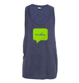 Men's Mela Tank - Heather Blue/Lime