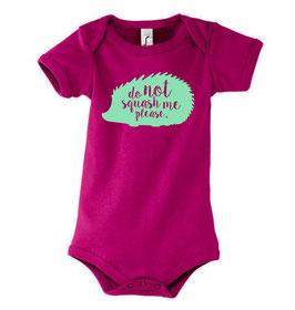 Baby Squash Bodysuit - Fuchsia/Mint
