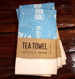 Sleeping Lady Tea Towel - Blue