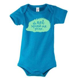 Baby Squash Bodysuit - Aqua/Mint