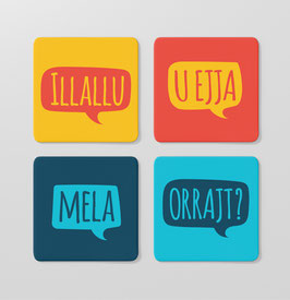 Set of Speak Maltese Coasters