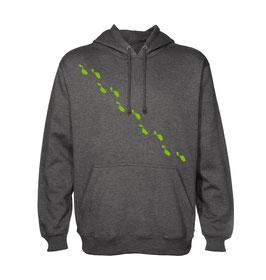 Maltese Steps Unisex Hoodie - Charcoal/Lime