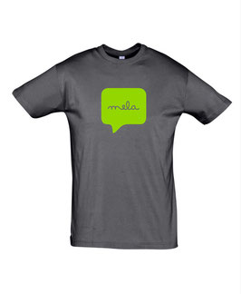 Men's Mela Tshirt - Mouse Grey/Lime