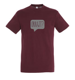 Men's Orrajt? Tshirt - Burgundy/Grey