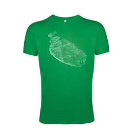 Men's Topography Tshirt - Green/White