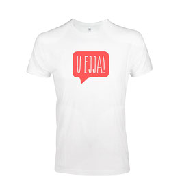 Men's U Ejja T-shirt - White/Coral