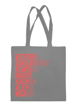 Gozo Cities Tote Bag - Grey/Coral