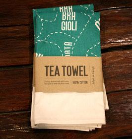 Sleeping Lady Tea Towel - Green