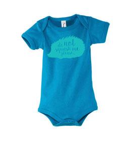 Baby Squash Bodysuit - Aqua/Blue
