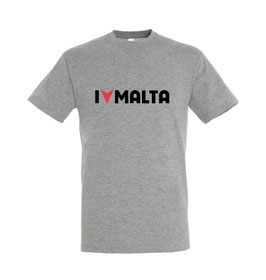 Men's I Love Malta Tshirt - Grey