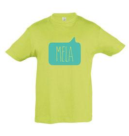 Kids Mela Tshirt - Apple/Aqua