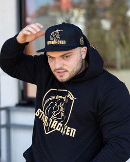 STIERNACKEN - Black Hoodie mit Stick in Gold