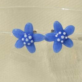 Ohrstecker Blümchen Blau